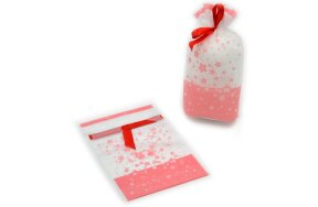 GIFT WRAPPING BAGS WITH FLOWERS 16x29cm
